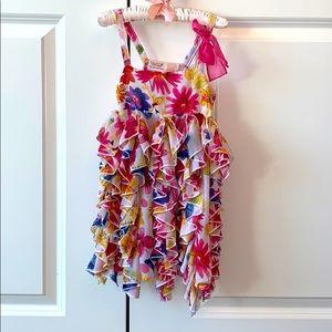 Truly Scrumptious By Heidi Klum Ruffle Dress EUC